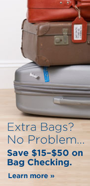 Extra bags? No problem. Learn how to save $15-$50 on bag checking.