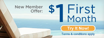 New Member Offer: $1 for first month. Try it Now! Terms and Conditions apply.